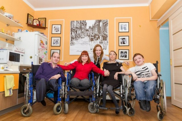 квартал Луи люди с инфвалидностью