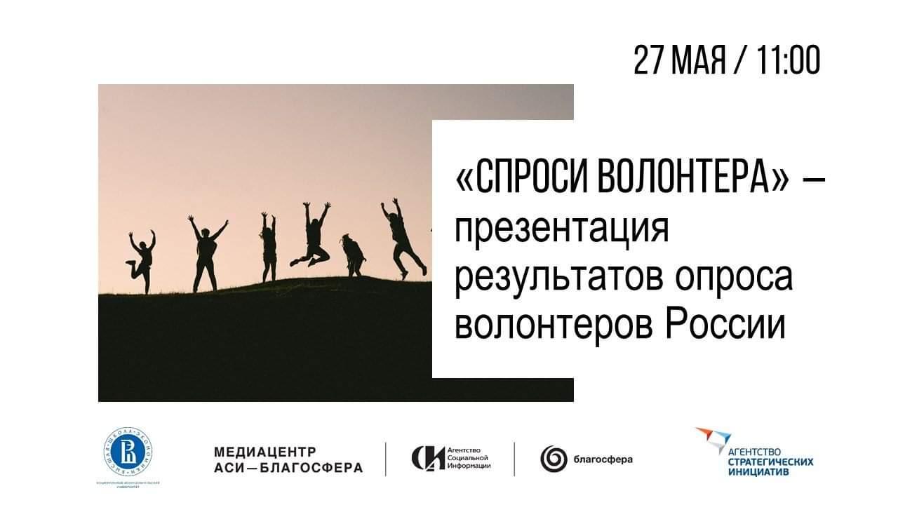 Презентация результатов исследования «Спроси волонтера»